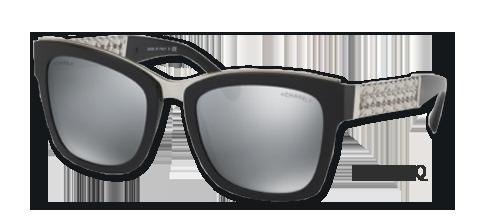 b7f2b10a7a509f Prestige Chanel zonnebrillen en dé ketting